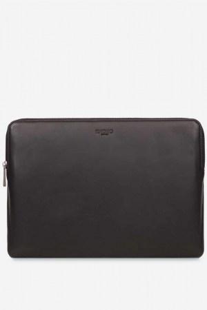 Knomo-Sleeve-13-Leder-Laptop-Hülle-Black-schwarz