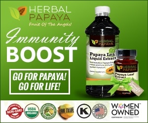 Papaya leaf liquid extract