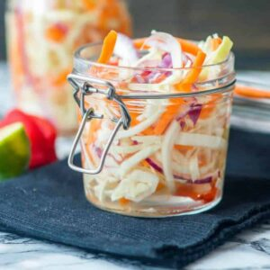 slaw in a glass jar