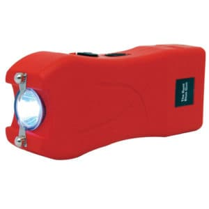 red runt stun gun flashlight side view