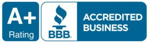 A+ Better Business Bureau Rating BBB