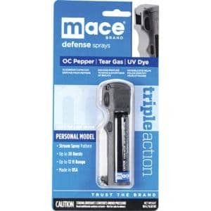 Mace® Triple Action Police Pepper Spray Key Chain Front View In Package