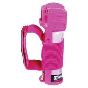 Mace® Pepper Spray Jogger – Pink Sport Model Right Side View With Strap