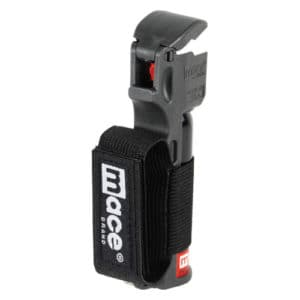 Mace® Pepper Spray Jogger – Black Flip Top Right Side View With Strap
