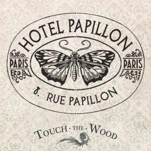 French Hotel Papillon (Butterfly) advert
