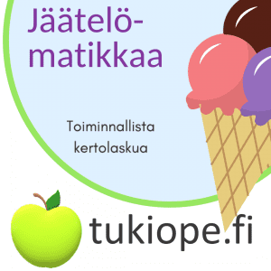 jäätelö, kertolasku, toiminnallinen
