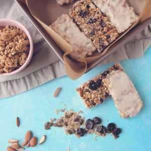 Vanilla coated granola bars