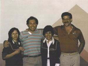 Antlers employees: Millie, Bert, Lucy & Rob, circa 1985