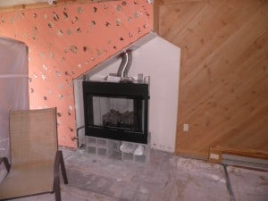 Unit 406 new fireplace installed