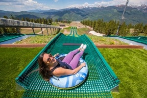 Grab a tube, hop a lift, get a rush on one of the two summer tubing hills. Photo courtesy Vail Resorts/ Andrew Taylor.