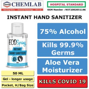 Hand Sanitizer 75% Alcohol – Kills Bacteria, Viruses, Covid 19