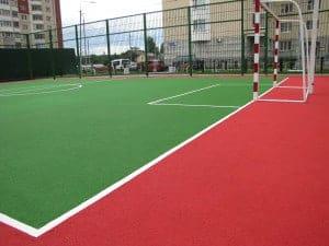 Резиновые спортивные площадки в Москве.