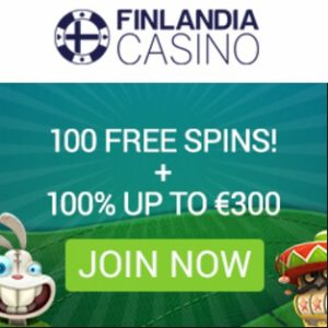 Finlandia Casino 100 free spins + €300 gratis bonus - Sweden & Finland