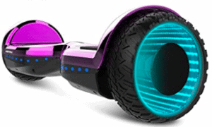 lateral view of hoverboard in multiple colors