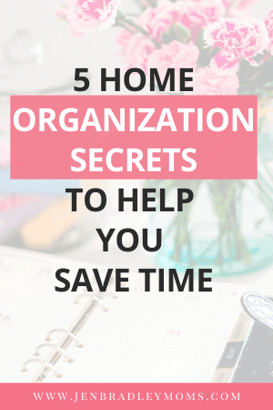 having a tidy and organized home helps you save time