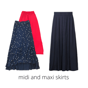 midi and maxi skirts are so comfortable for summer dressing