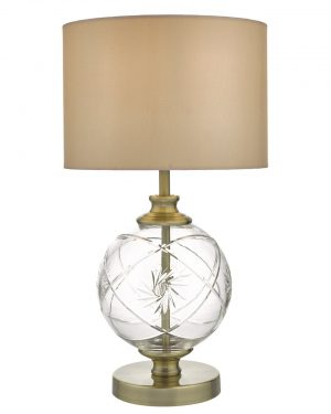 Där YUN4275 Yuna Table Lamp Antique Brass