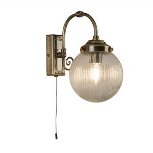 3259AB Searchlight BELVUE 1 Light BATHROOM IP44 WALL LIGHT