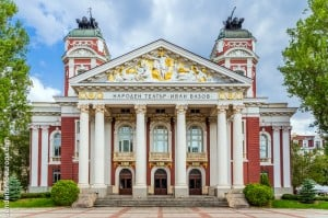 Edificio del Teatro y Opera de la capital de Bulgaria Sofía