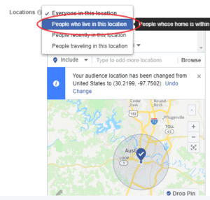 Facebook Local Advertising Map