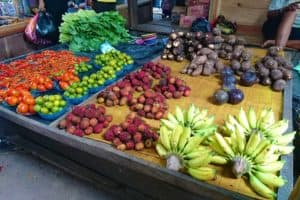 Bananas, Rambutan, Tomatoes and more sold at the Market