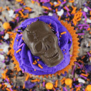 Halloween Skull Cupcakes