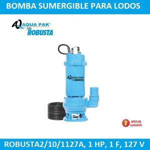 Bomba sumergible lodos Aqua Pak Robusta2