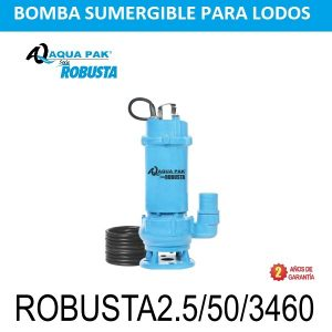 Bomba para lodos 5 HP ROBUSTA2.5/50/3460