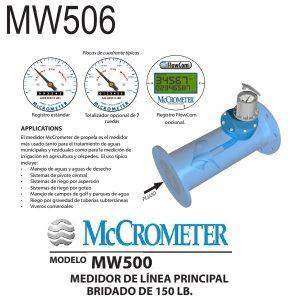 Medidor-de-flujo-McCrometer-modelo-MW506-6-pulg.-Ø-brida-estandar