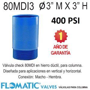 Válvula-check-vertical-para-columna-hierro-dúctil-Flomatic-80MDI-3-pulg.-400-PSI