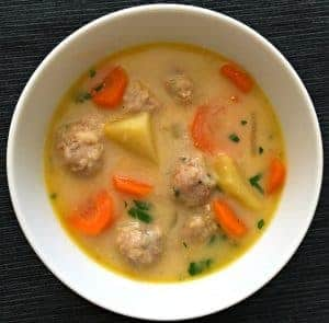 Bulgarian Meatball Soup