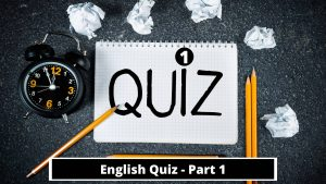 English Quiz on Vocabulary and Grammar with 30 Questions