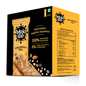 Buy Mojo Bar - Nutty Apricot + Fibre - Energy Bar - (Pack of 15) - 480g Online