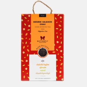 Shop Butterfly Ayurveda - Herbal (Elaichi laghu + Black tea) Shubh Saanjh Chai - 100g Online