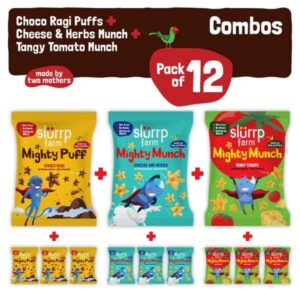 Shop Slurrp Farm - Super Healthy Snack Combo Pack of 12 - Three Awesome flavours Online