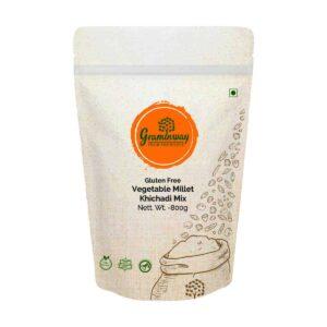 Shop Graminway -  Gluten Free Vegetable Millet Khichadi Mix - 800g Online