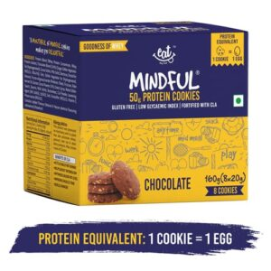 Shop EAT Anytime - Gluten Free Chocolate Protein Cookies (Pack of 8) - 160g Online