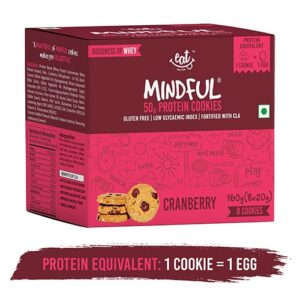 Shop EAT Anytime - Gluten Free Cranberry Protein Cookies (Pack of 8) - 160g Online