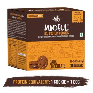 Shop EAT Anytime - Gluten Free Dark Chocolate Protein Cookies (Pack of 8) - 160g Online