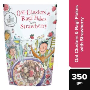 Buy Monsoon Harvest - Natural Oat Clusters & Ragi Flakes with Strawberry - 350g Online