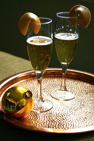 New Years Champagne Recipe - Good Fortune Champagne Cocktail