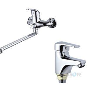 Набор смесителей для ванны ZEGOR NHK-A149+BIT-A135