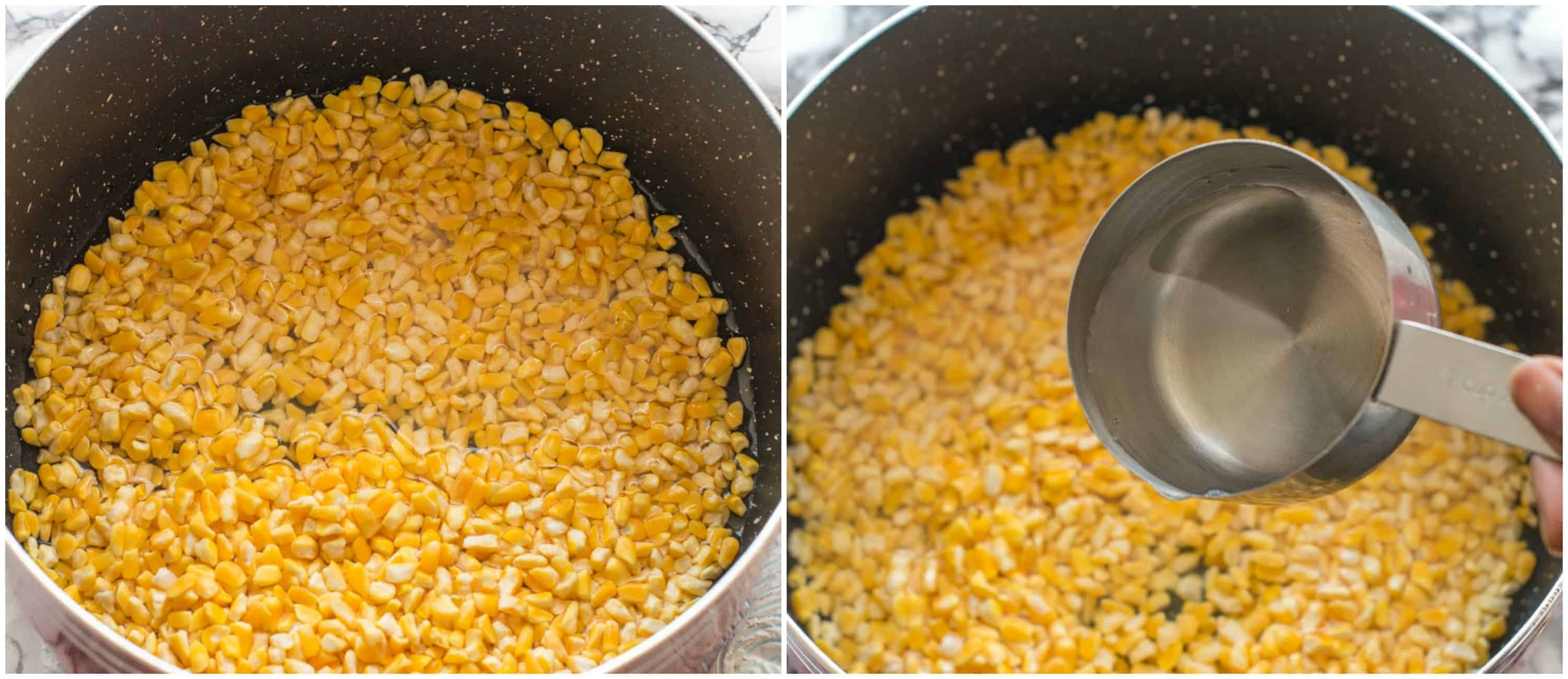 hominy corn porridge steps 1-2