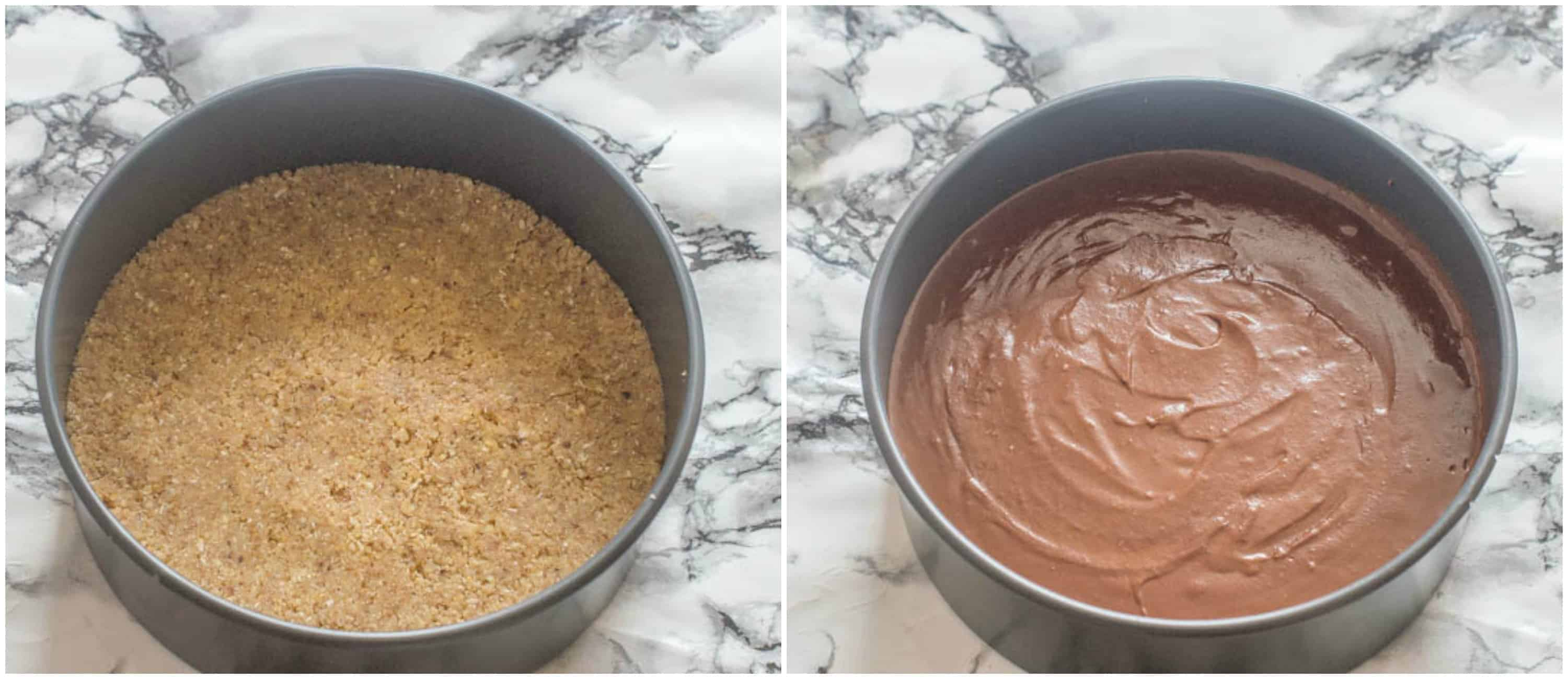 No bake chocolate cheesecake steps 1-2