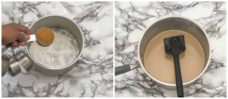 Vegan condensed milk steps 1-2