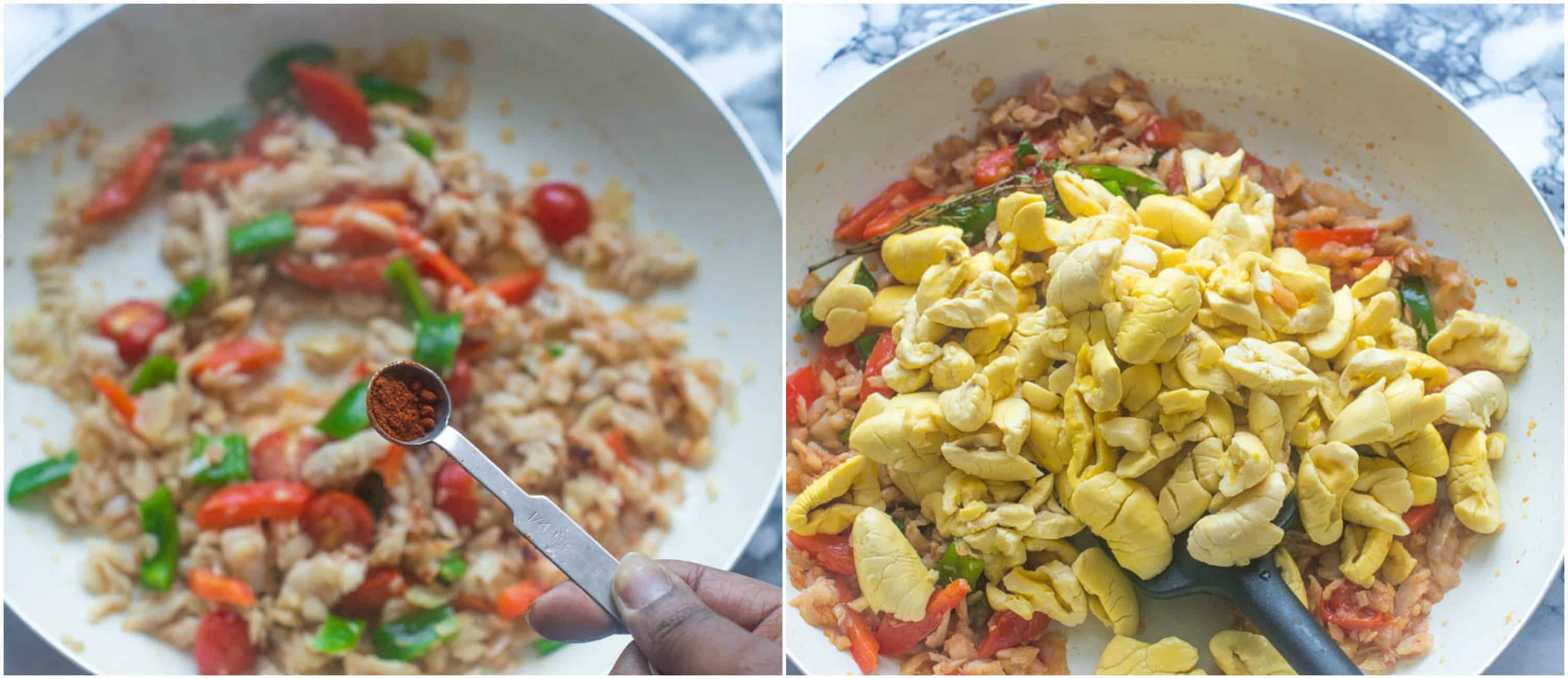 ackee and saltfish steps 7-8