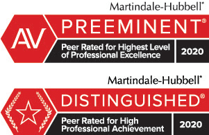Martindale Hubbel Distinguished Professional Achievement badge