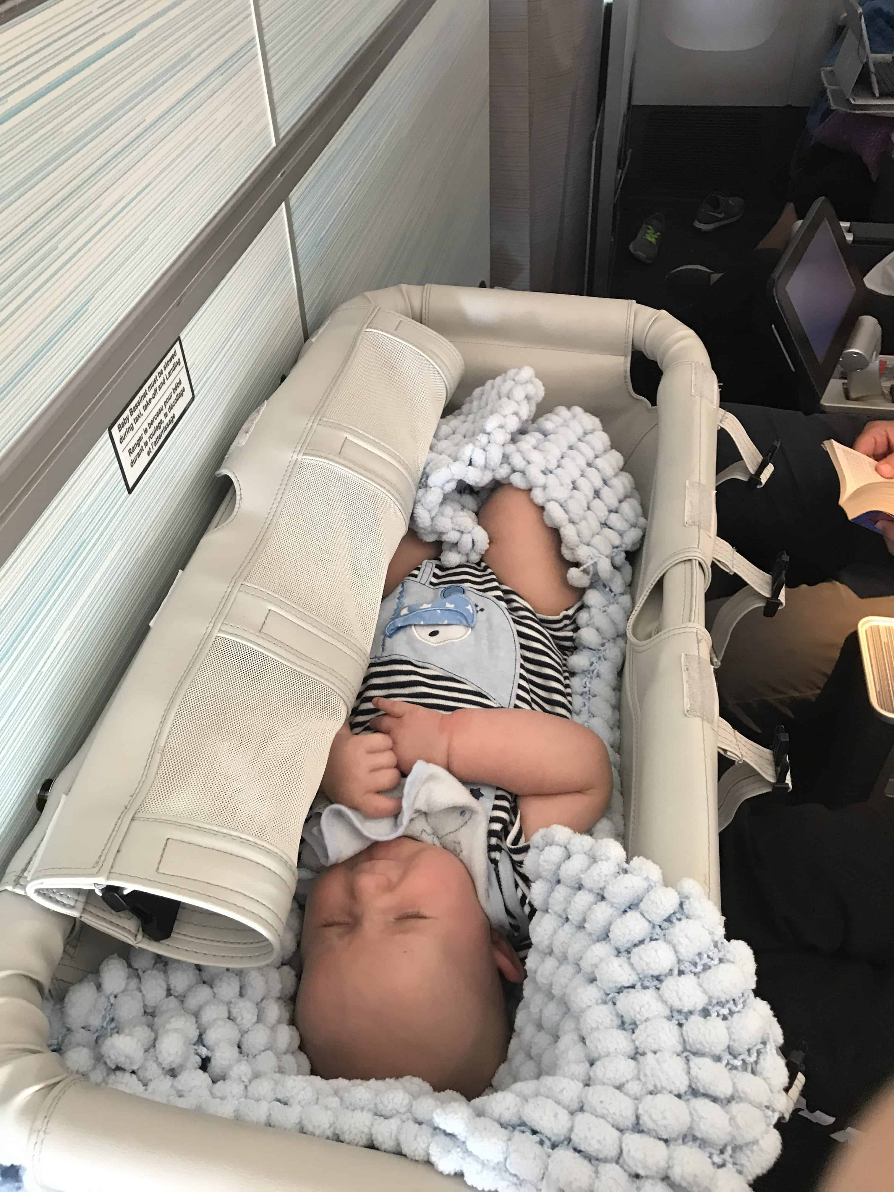 Flying with a Baby - Airplane Bassinet