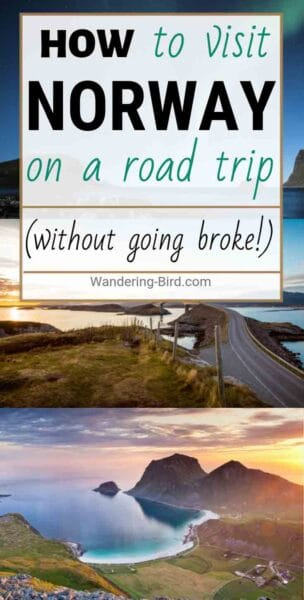 Want to visit Norway? Planning a road trip? Here's how to have a road trip around Norway without going broke! Yes, it's an expensive country to visit, but if you plan it right, there are ways to make it a cheaper place to visit. Take your motorhome, campervan, RV or car to Norway and save LOADS of money by wild camping, cooking food, finding cheap places to visit and LOADS of other great travel tips. This post includes an itinerary for Norway, map, route ideas, budget hacks and more. #norway #norwaytravel #roadtrip #roadtriptips #europetravel #budgettravel