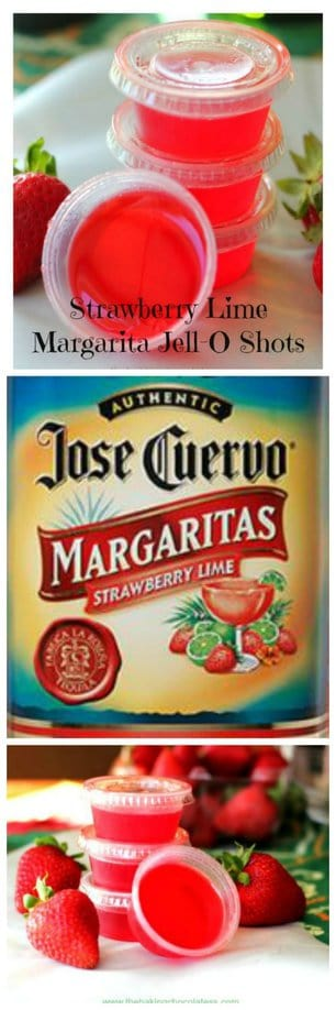 Strawberry Lime Margarita Jell-O Shots